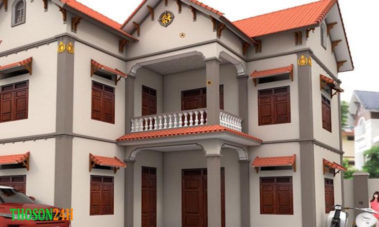 Cách tính m2 tường với nhà tầng mặt đất liền kề