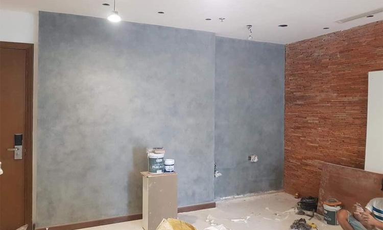 Bức tường hiệu ứng từ sơn pukaco