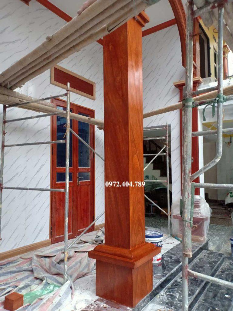 Cột làm giả gỗ