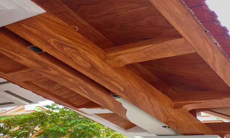 Cổng làm giả gỗ