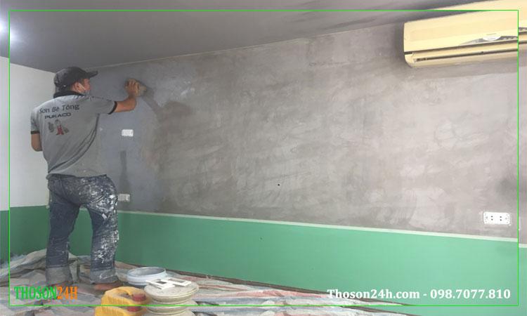 Cách làm sơn giả bê tông