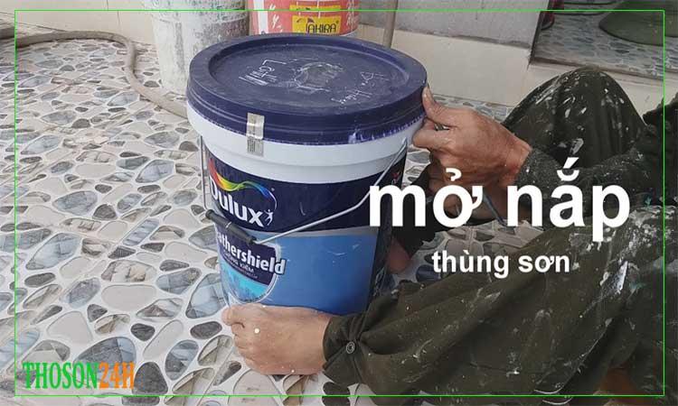 cach mo nap thung son