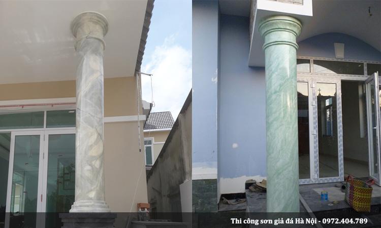 Cột đá cẩm thạch đa dạng